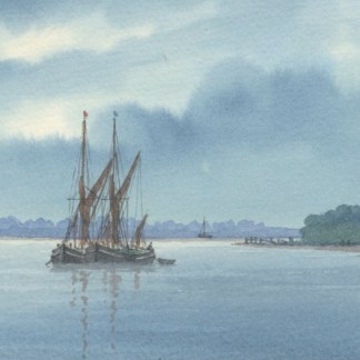 Watercolour painting. AOA007 Anchored Together. Artist: Anthony Osler