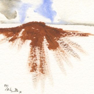 Watercolour painting. MBA007 Hilltops. Artist: Melanie Bettridge