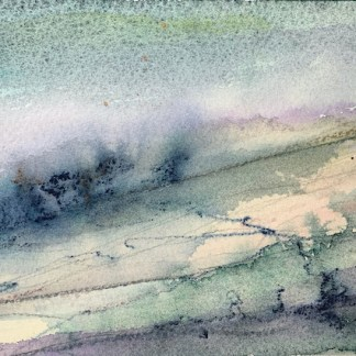 Watercolour painting. RWB0358 Hazy Shade of Winter. Artist: Vandy Massey