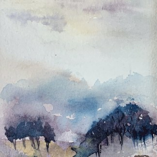 Watercolour painting. RWB0374 Trees. Artist: Vandy Massey