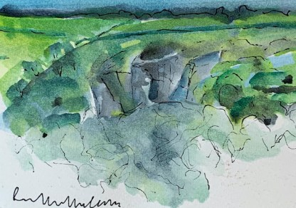 Watercolour painting. RMA003 The Gorge Spring. Artist: Ruth McCabe