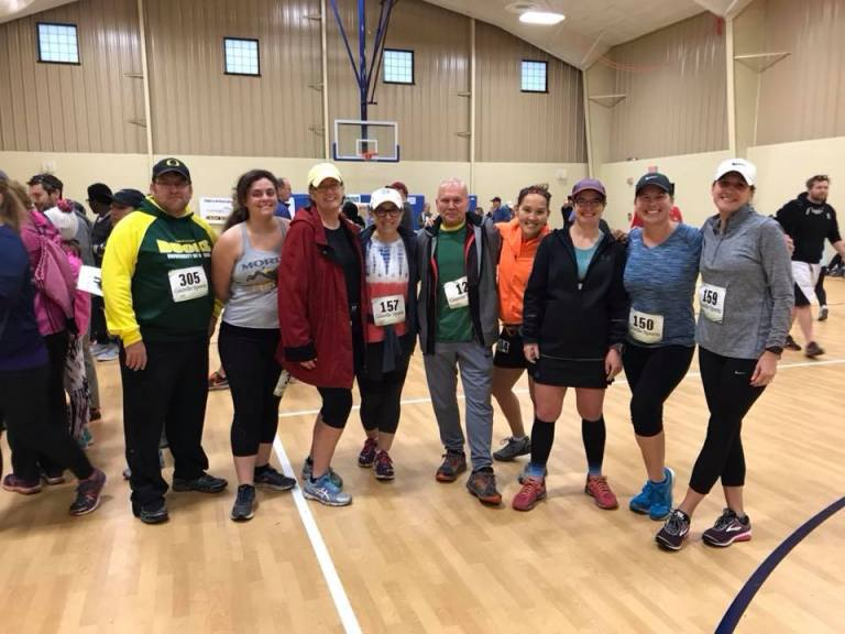 With the fall trail training group when we traveled to the Dirty Herd 5K/10K Trail Race in Mattawan, MI.