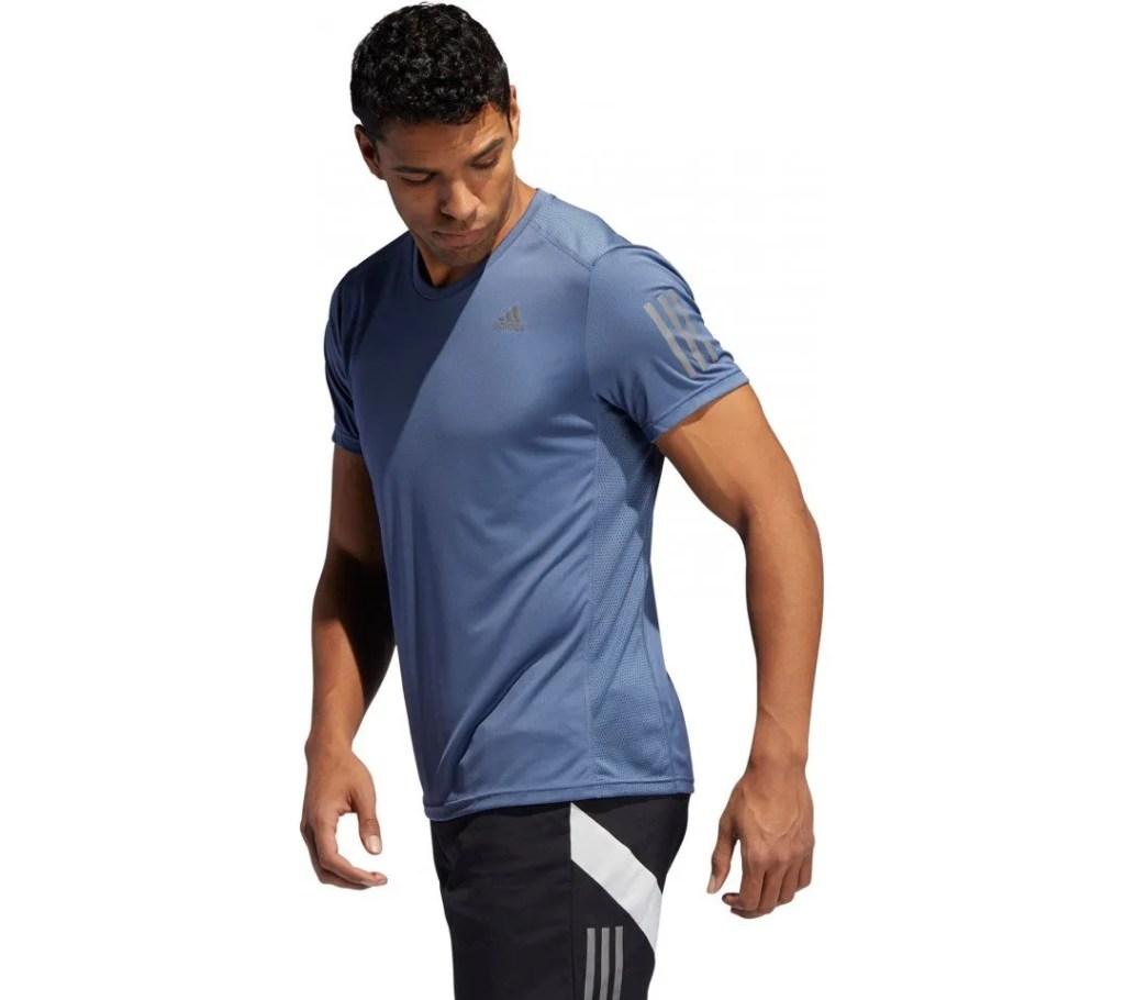 Hardloopshirt blauw adidas man
