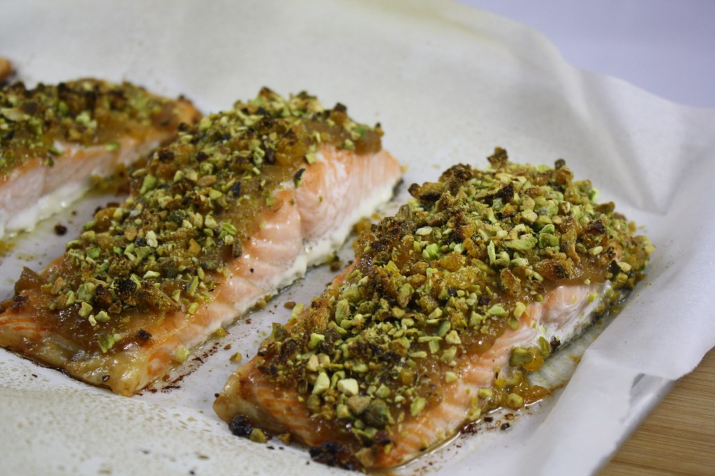 Running on veggies page 19 runner a little bit of everything apricot glazed pistachio crusted salmon forumfinder Gallery