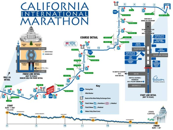 California International Marathon Course