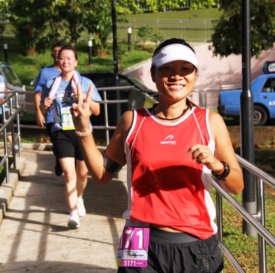 All smiles from a runner
