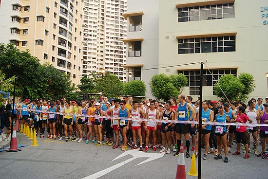 Runners counting down to the flag off