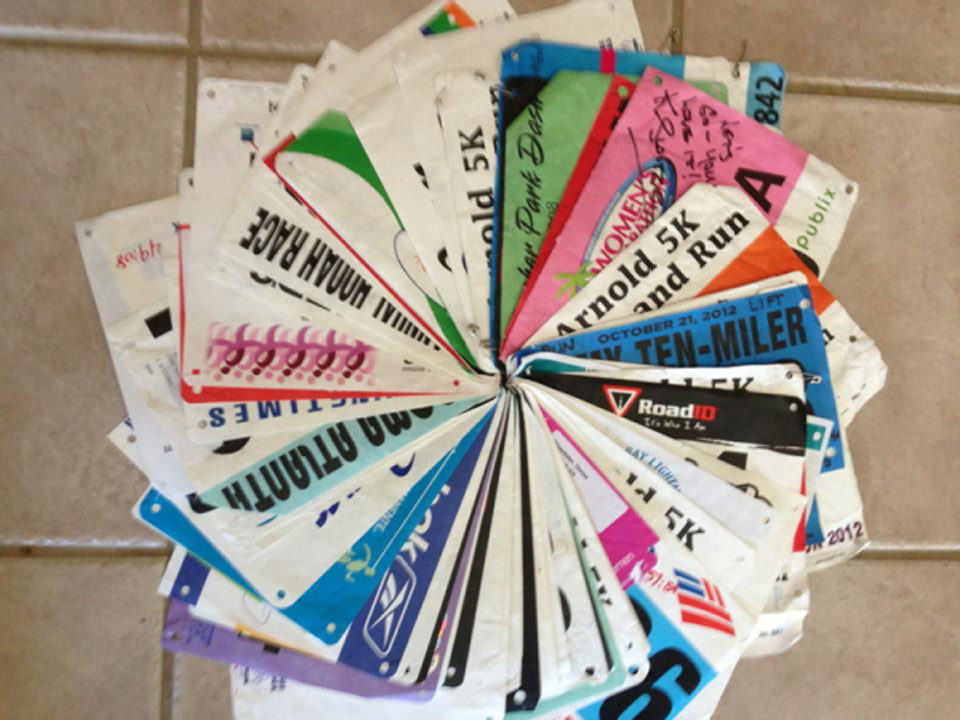15 Things To Do With Your Old Race Bibs and Medals