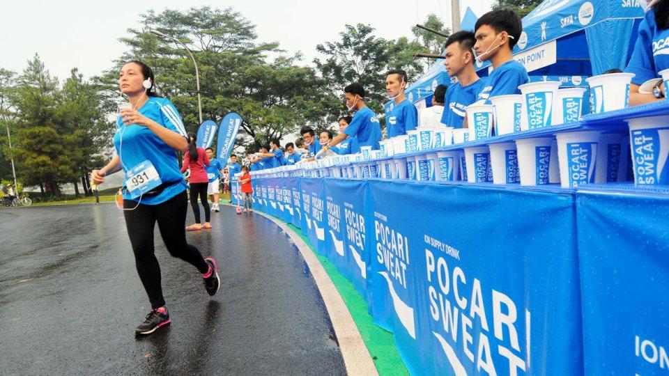 POCARI SWEAT Run Jakarta 2014: 5,000 Gathered in Alam Sutera and Practised #SAFERUNNING