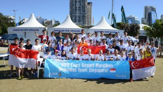 Singapore Runners Set Record Times at Gold Coast Airport Marathon 2014