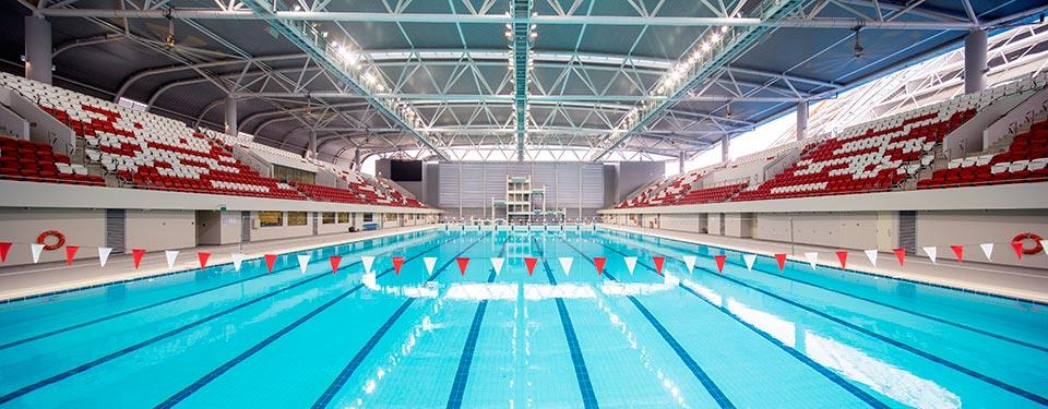 OCBC Aquatic Centre; Photo Credit: DP Architects
