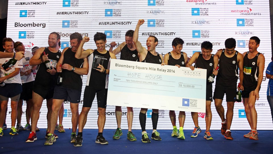 Bloomberg Square Mile Relay Singapore 2014: Macquarie Bank Clinches Winning Spot!