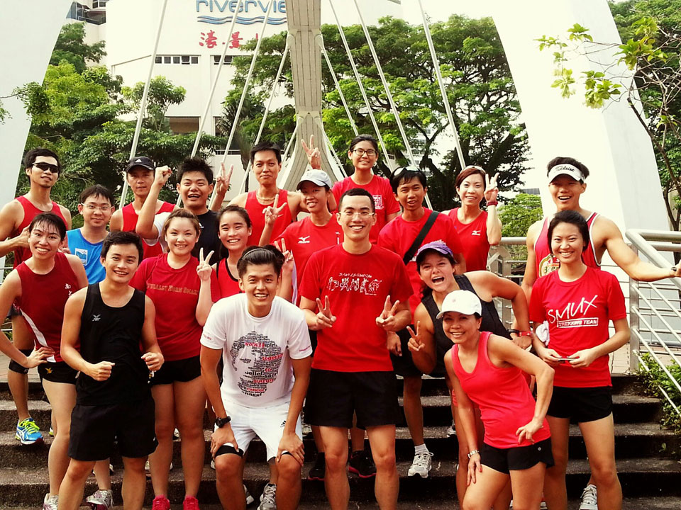 Morning Greeters Run Circles of Smiles around Singaporeans