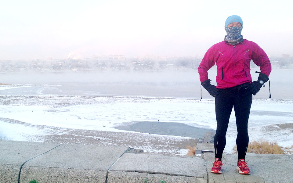 The Experience of Running in the Extreme Cold