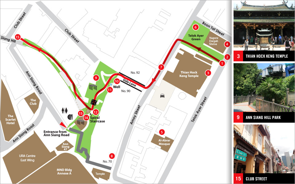 Pioneers Trail at Ann Siang Hill Park & Telok Ayer Green