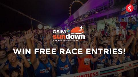 OSIM Sundown Marathon 2017 Race Tickets Giveaway Contest