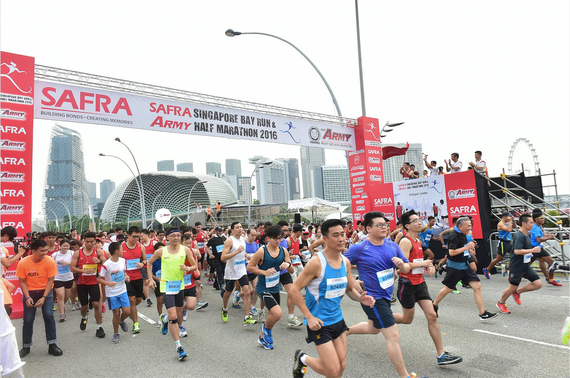 SAFRA Singapore Bay Run & Army Half Marathon 2017 Introduces New NS50 Team Run Category
