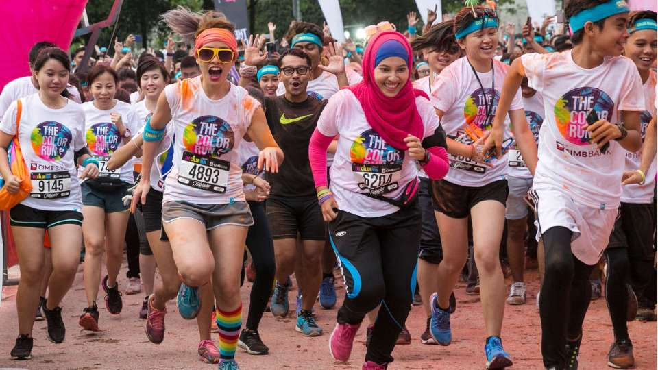 The CIMB Color Run 2017 Excites 13,000 Runners in Kuala Lumpur