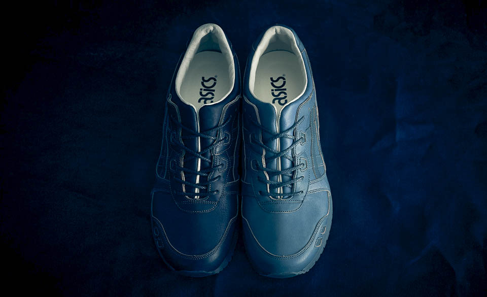 All ASICS Shoes Released in 2017: ASICSTiger GEL-LYTE III Indigo Dyed Leather Shoes