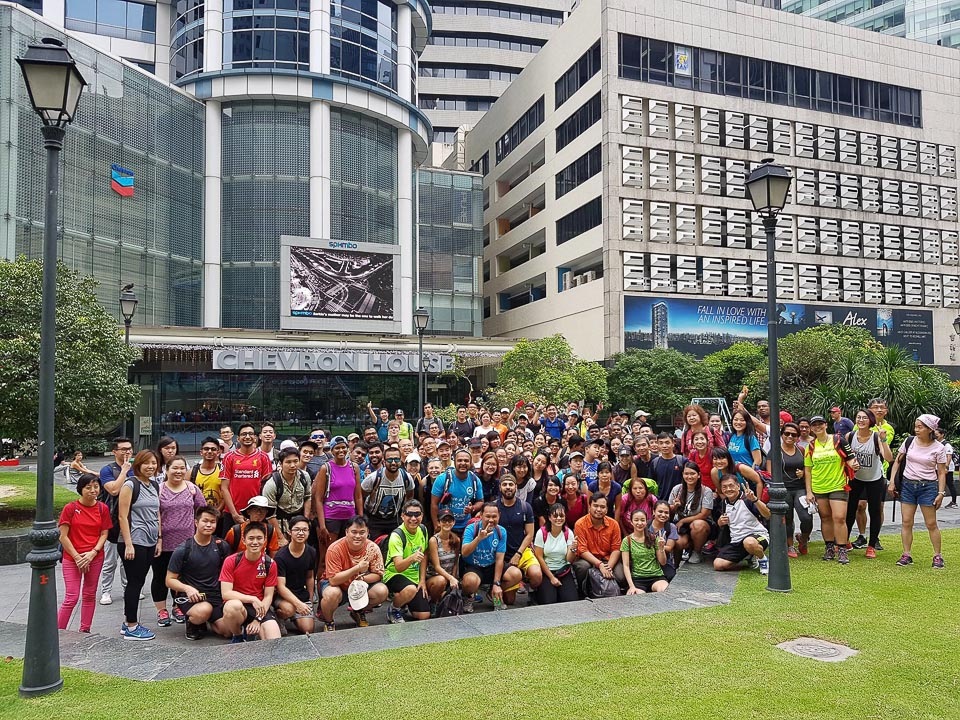 7 People Completed 100KM Singapore Island Walk