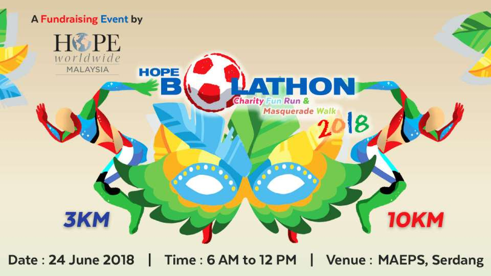 HOPE Bolathon Charity Fun Run & Masquerade Walk 2018