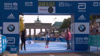 Eliud Kipchoge of Kenya Sets New Marathon World Record at Berlin Marathon
