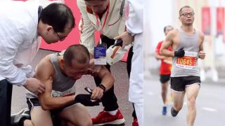 This father breaks down in tears after he finishes a marathon. But the reason he cried made our hearts heavy.