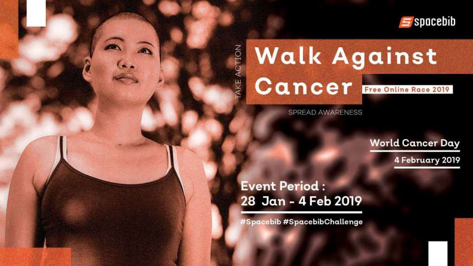 Walk Against Cancer Free Online Race 2019