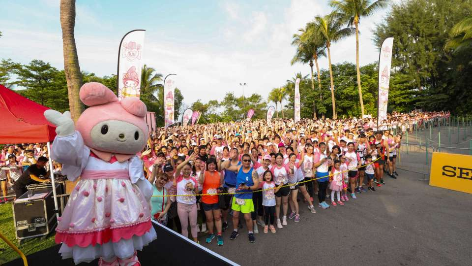 Over 5,000 Participants Attended the World's First My Melody Run in Singapore