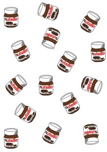 cute iphone wallpapers with hand-drawn nutella jars