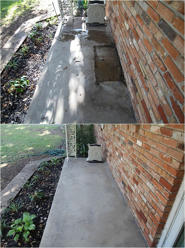 how to clean concrete the easy way