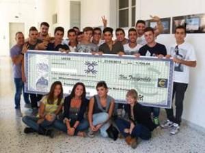 Gli studenti della 5°B dell'Istituto Galilei-Costa di Lecce