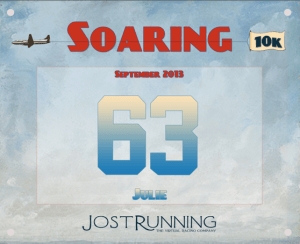 Virtual Race:  Jost Running Soaring 10k  Soaring in September