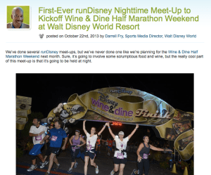 Wine and Dine Half Marathon runDisney Meetup