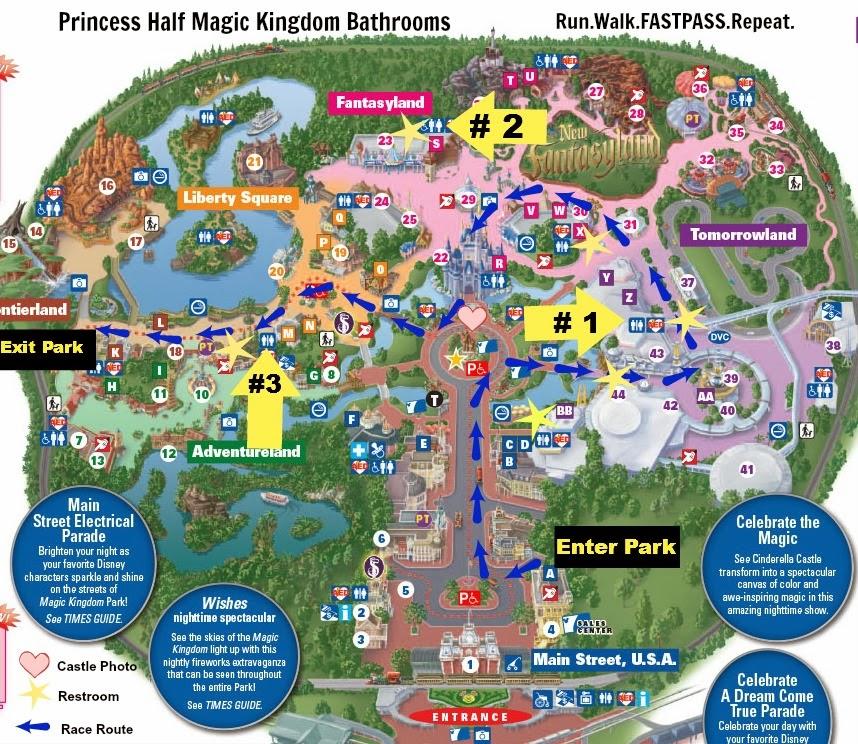 Disney Princess Half Marathon Map on