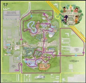 runDisney Tinker Bell 10k Course Map