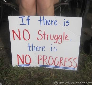 No struggle No PRogress sign PRR