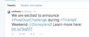runDisney Announces Pixie Dust Challenge