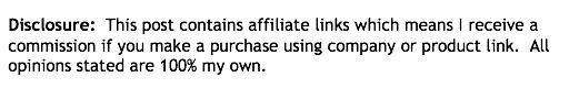 disclosure Affiliate link
