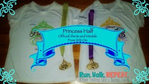 Princess Half Marathon Official Race Shirts and Medals Through the Years