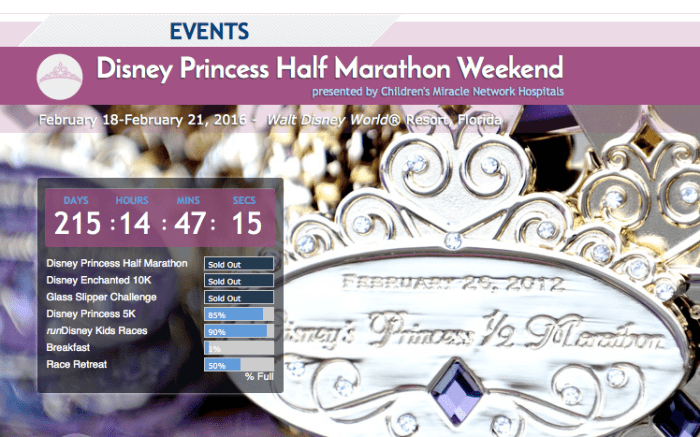 2015 Princess Half is Sold Out