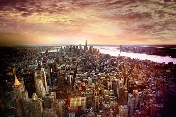 Empire State Building View Sunset