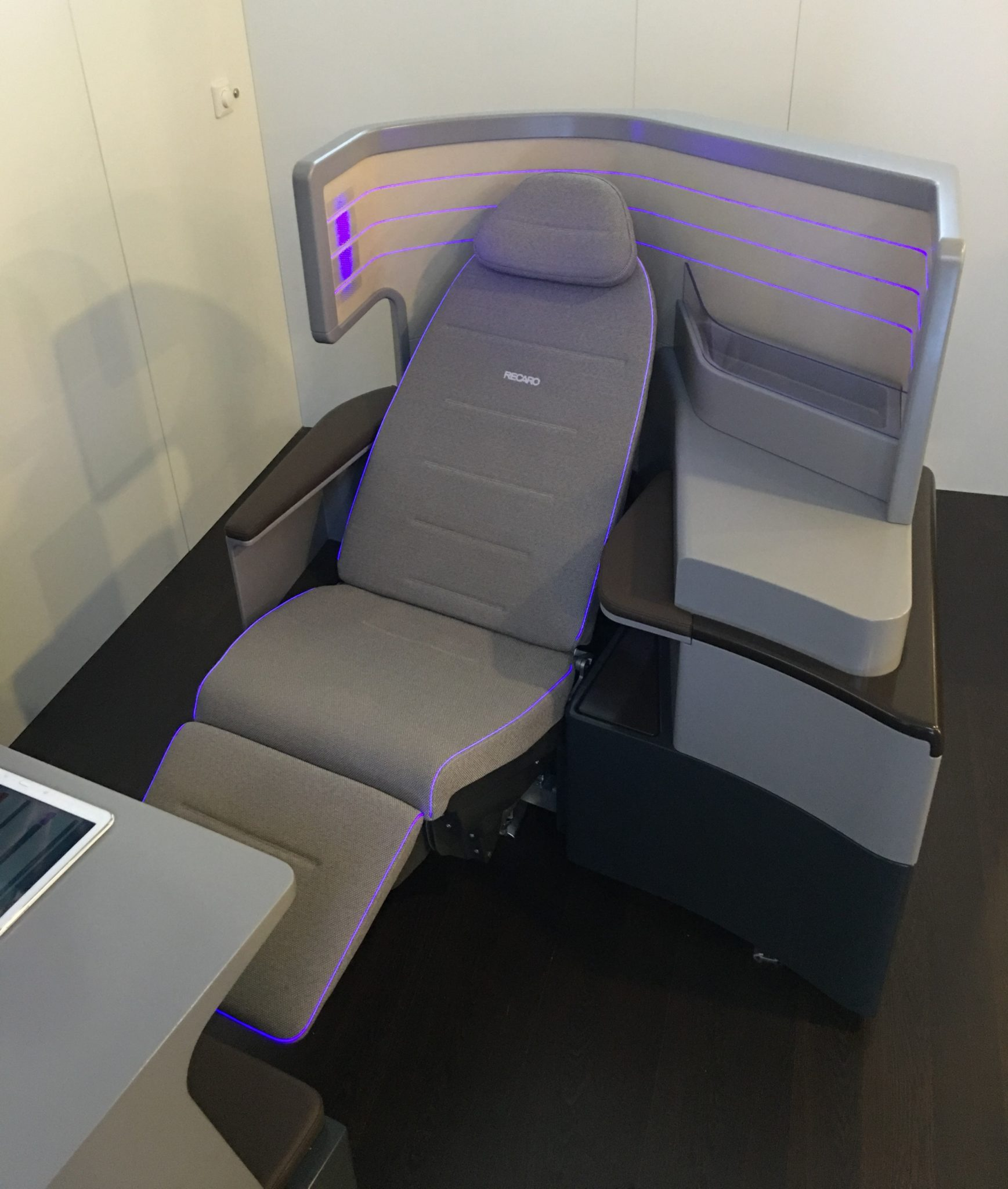 Recaro's business class seat innovations this year were evolutions on the CL6710 product. Image: John Walton