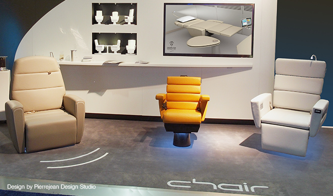 The customisability of Lufthansa Technik's chair™ is the crux of the product. Image: