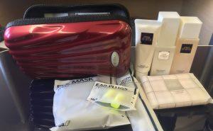 ANA's mini suitcase is charming kawaii and practical for reuse. Image: John Walton