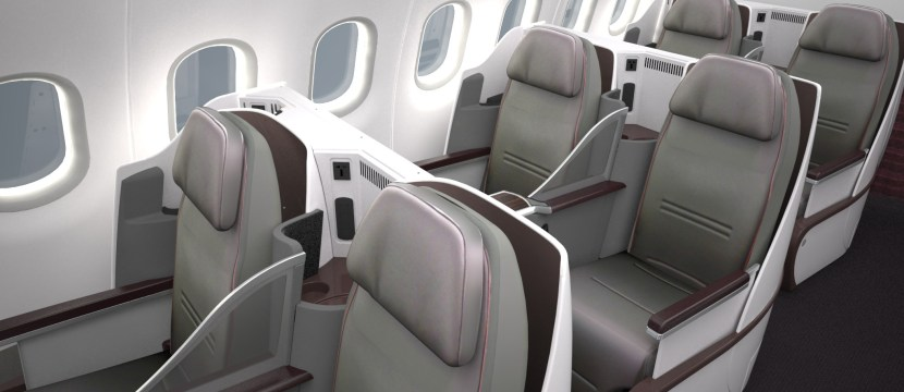 Qatar Airways operates an Airbus A319 with an all-business BE Diamond product. Image: Qatar Airways