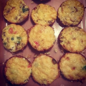 My mini quiches chock full of veggies!