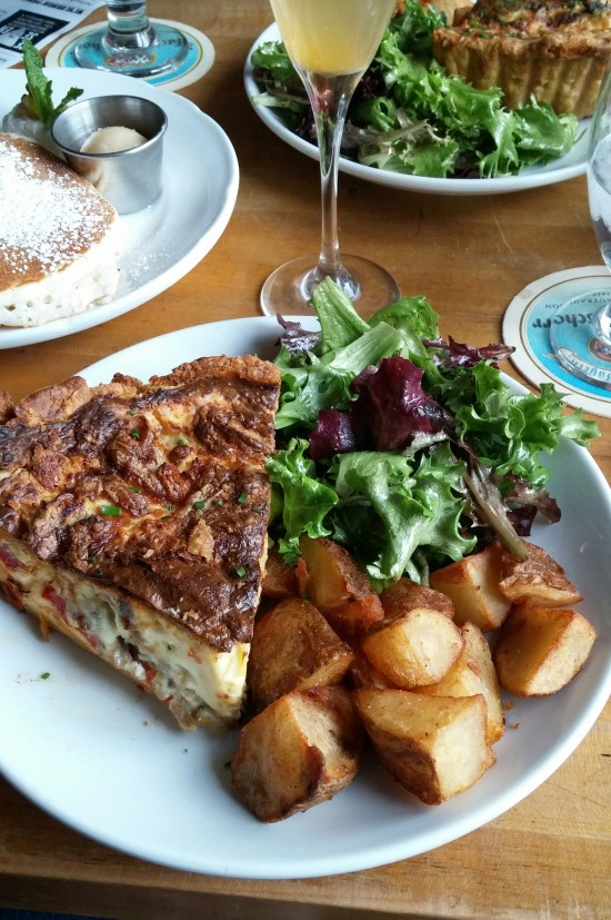 Amazing quiche at Sidecar Bar