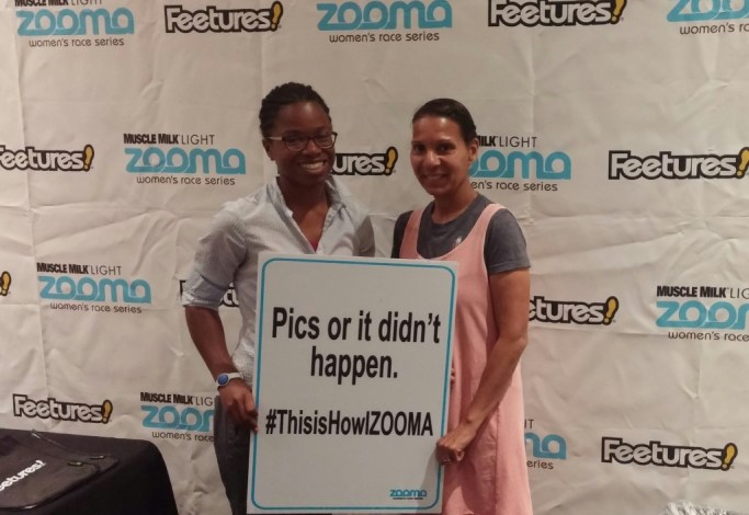 Photo opp at the Zooma Expo