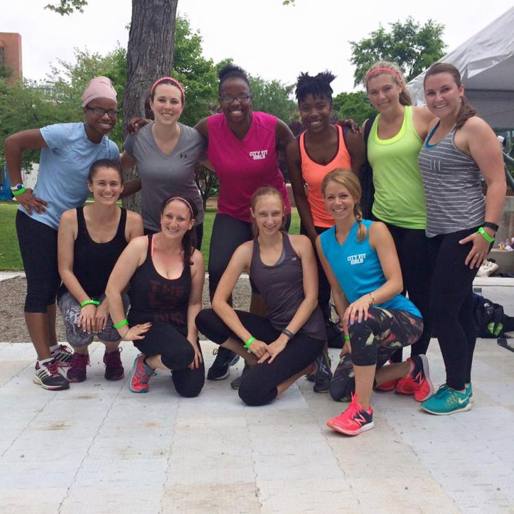 Just some of the City Fit Girls crew at Be Well Philly Boot Camp